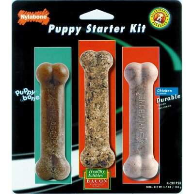 Nylabone Puppy Starter Kit Dog Chew Toy Variety Pack