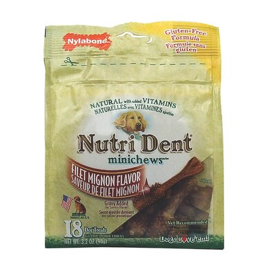 Nylabone Nutrident Filet Mignon Dog Treat