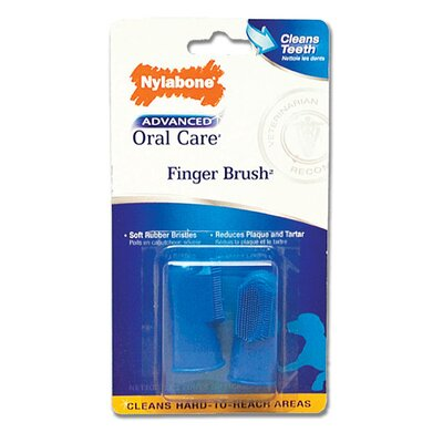 Nylabone Advanced Oral Care Finger Brush for Dog - 2 Count