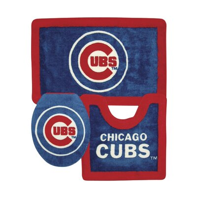 Championship Home Accessories Chicago Cubs 3 Piece Bath Rugs