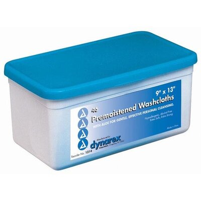 Dynarex Corporation Premoistened and Disposable Washcloth