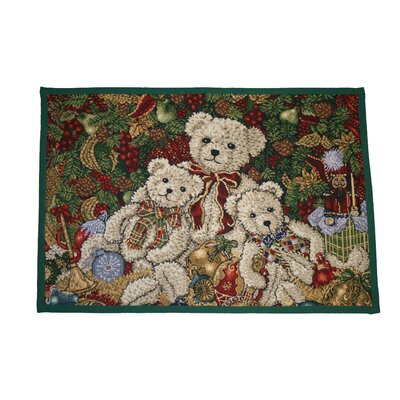 Seasonal Bear Design Novelty Rug
