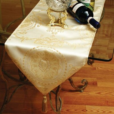 Violet Linen Prestige Damask Design Table Runner
