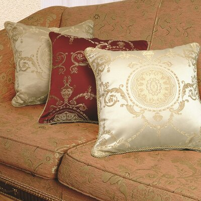 Violet Linen Prestige Damask Design Decorative Cushion Cover