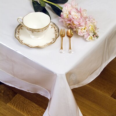 Violet Linen Clear Plastic Tablecloth