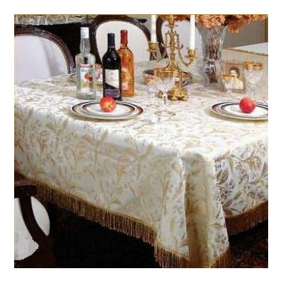 Violet Linen Luxury Damask Design Tablecloth