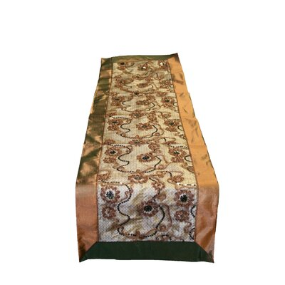 Crown Embroidered Sequins Table Runner