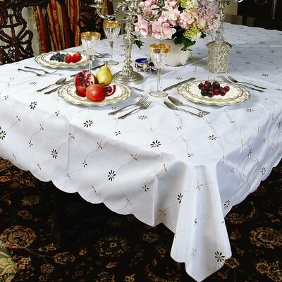 Dotty Embroidered Design Tablecloth