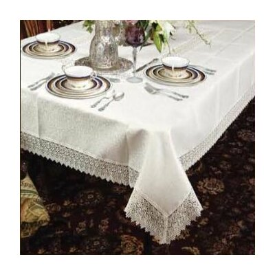 Treasure Lace Linen Look Tablecloth
