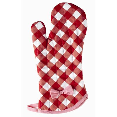Violet Linen Giant Gingham Red Oven Mitt