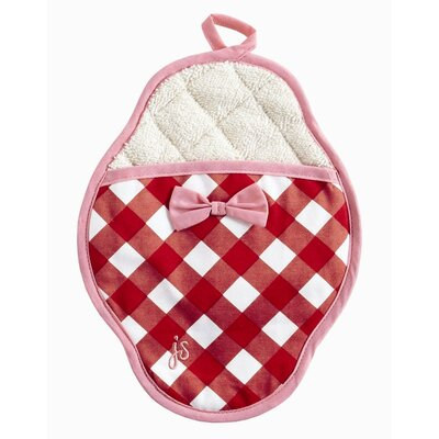 Violet Linen Giant Gingham Red Pot Mitt