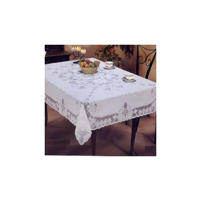 Violet Linen Vinyl Lace Betenburg Design Tablecloth