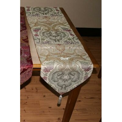 Violet Linen Chenille Swivel Design Table Runner