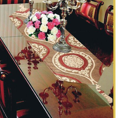 Milano Arts Damask Jacquard Design Table Runner