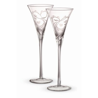 Yours Truly Champagne Etched Flutes (Set of 2)
