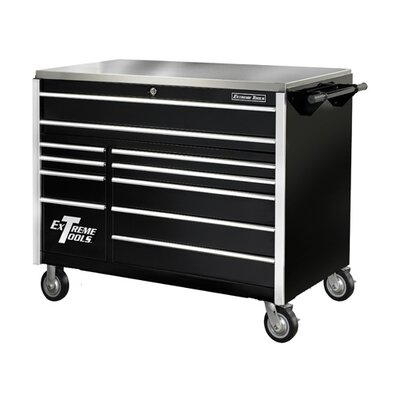 "Extreme Tools 55"" 11 Drawer Professional Roller Cabinet in Black"