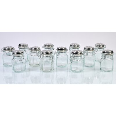Global Amici Hexagonal Spice jars (Set of 12)