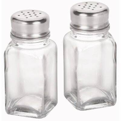"Anchor Hocking 4"" Glass Salt and Pepper Shakers"