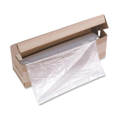 "HSM of America,LLC Shredder Bags, f/HSM Models, 13""x10""x24"", 100BG/CT, Clear"