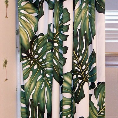 Hanalei Home Ohana Cotton Rod Pocket Curtain Single Panel