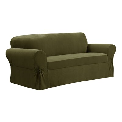 2 piece cobblestone sofa slipcover wayfair for 2 piece sectional sofa slipcover