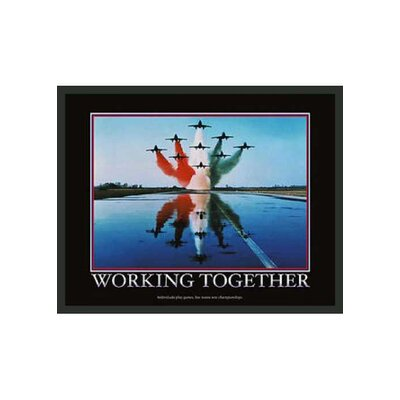 "Frames By Mail Motivational Framed Working Together Print - 14"" x 11"""