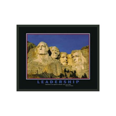 "Frames By Mail Mount Rushmore Motivational Framed Leadership Print - 22"" x 28"""