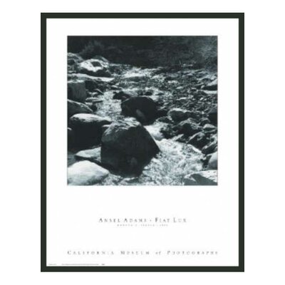 "Frames By Mail Mountain Stream Framed Print by Ansel Adams - 32"" x 24"""