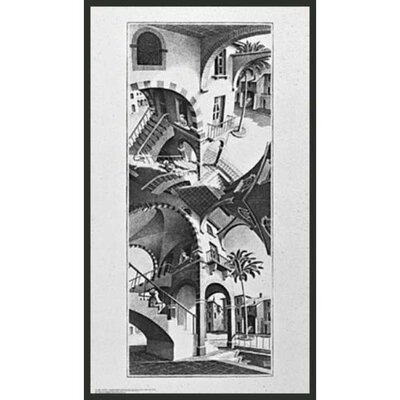"Frames By Mail High and Low by Escher Framed Print - 31.25"" x 17.75"""
