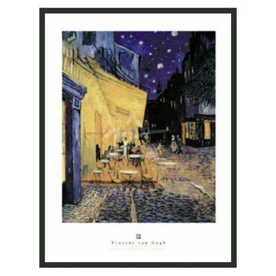 "Frames By Mail Café Terrace at Night Framed Print by Van Gogh -32"" x 24"""
