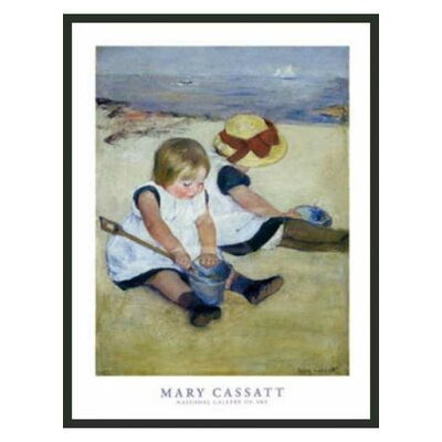 Children Playing on the Beach by Cassatt Framed Print - 32