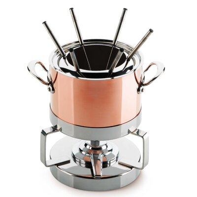 Mauviel M'Heritage Copper Fondue Set
