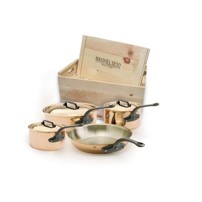 Mauviel M'Heritage Copper 7-Piece Cookware Set