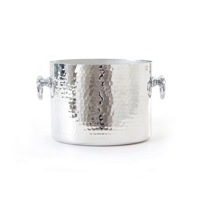 Mauviel M'pure Hammered Aluminum Oval Champagne Bucket