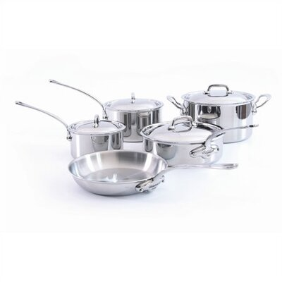 Mauviel M'Cook 5-Ply Stainless Steel 9-Piece Cookware Set