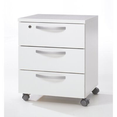 Tvilum Box 3 Drawer Mobile Filling Cabinet
