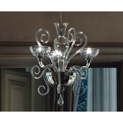 FDV Collection Bolero 3x75 G9 Bulb Chandelier by Carlo Nason