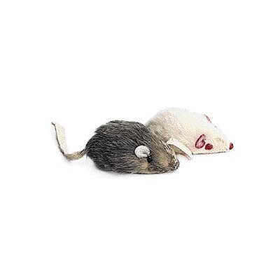 Fur Mouse Cat Toy (2 Pack)