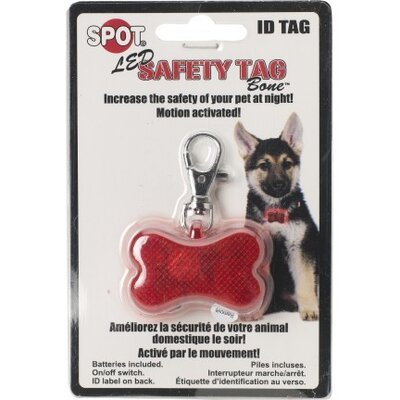 Ethical Pet Safe T Tag Bone Shape Led ID Dog Safety Light