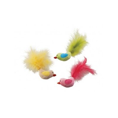 Plush Fantastic Feathers Bird Cat Toy