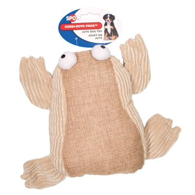 Ethical Pet Spot Cordi-Roys Frog Dog Toy