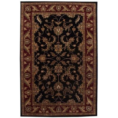 Aaryan Black/Burgundy Rug