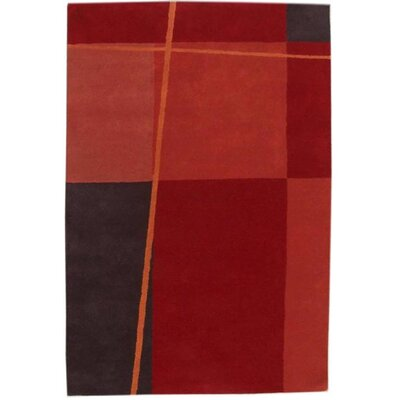 Acura Rugs Contempo Red/Black Rug