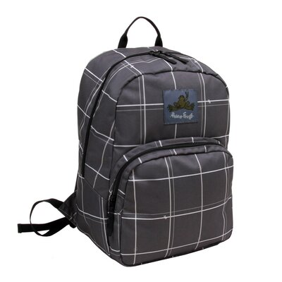 Day Trippin Backpack in Gray Plaid Print