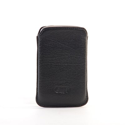 Blackberry Bold Slim Leather Pouch with Clip in Black