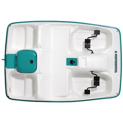 KL Industries Water Wheeler Five Person Pedal Boat in Cream / Aqua