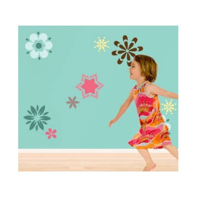 My Wonderful Walls Fabulous Flowers Self-Adhesive Wall Stencil Kit