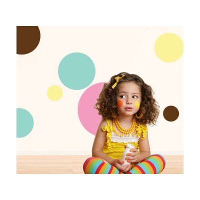 My Wonderful Walls Polka Dot Power Self-Adhesive Wall Stencil Kit