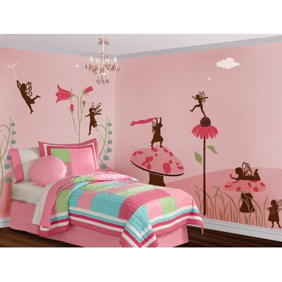 My Wonderful Walls Fanciful Fairies Self-Adhesive Wall Stencil Kit