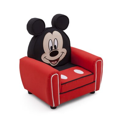 delta children mickey mouse figural kid upholstered chair